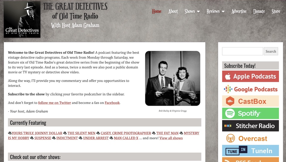 Great Detectives of Old Time Radio Screenshot