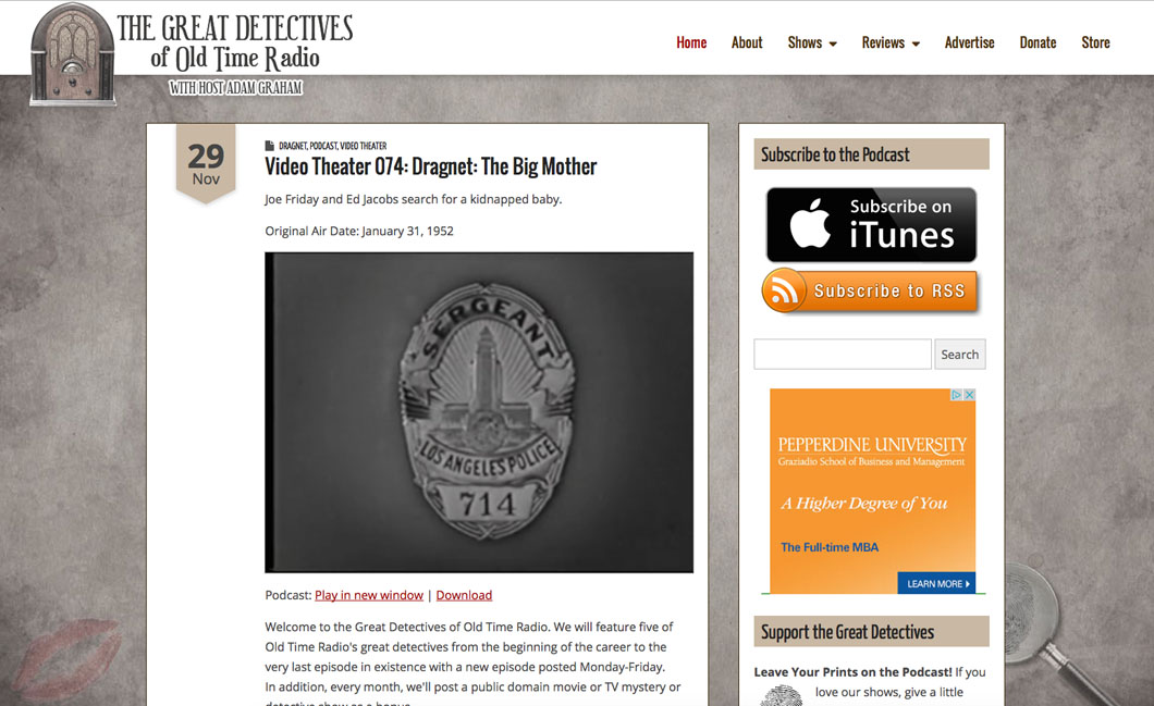 Great Detectives of Old Time Radio - Moss Web Works