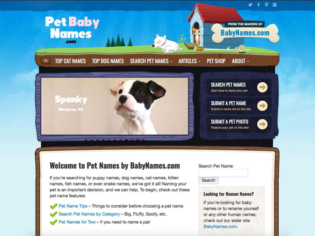 Pet Names by BabyNames.com
