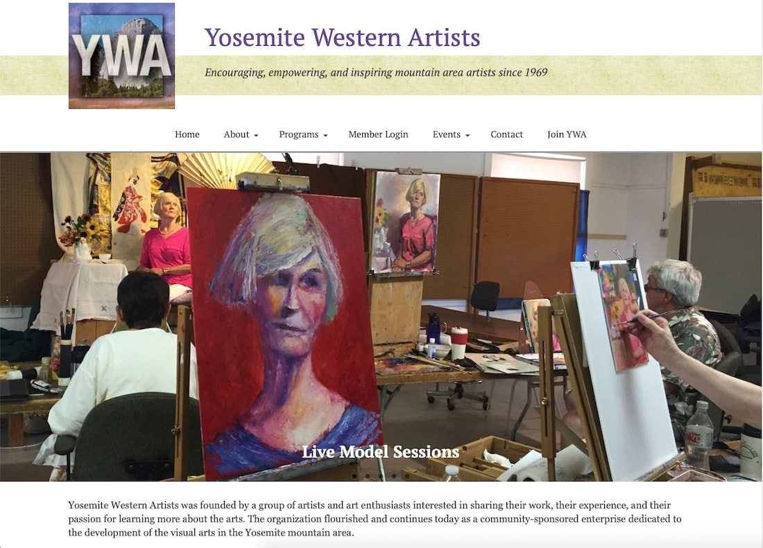 Yosemite Western Artists Screenshot