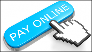 Pay Online Button with Mouse Hand