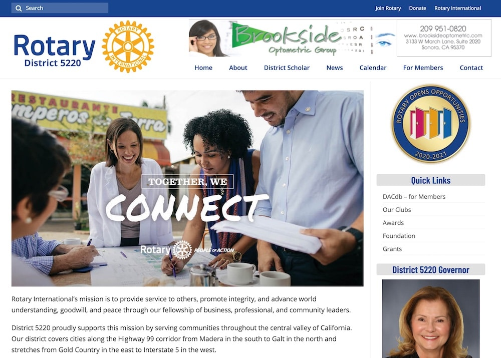 Screenshot of Rotary 5220 Website