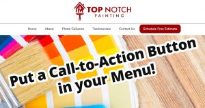 Put a Call to Action Button in your Menu!