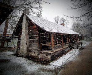 Log cabin in Fresno Flats Park