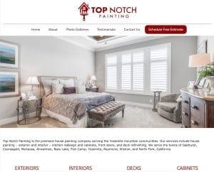Screenshot of TopNotchPainting.net
